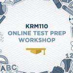 Tuks KRM 110 Test Prep Workshop